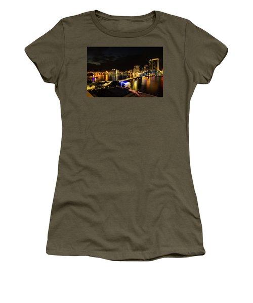 Jacksonville Skyline By Night Women's T-Shirt