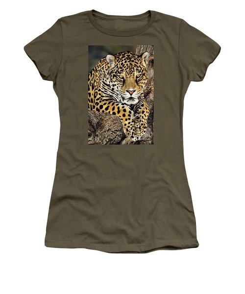 Jaguar Portrait Wildlife Rescue Women's T-Shirt