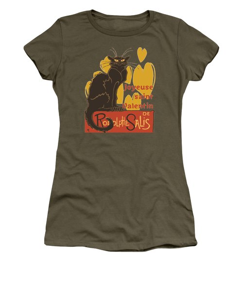 Joyeuse Saint Valentin Le Chat Noir Parody Women's T-Shirt