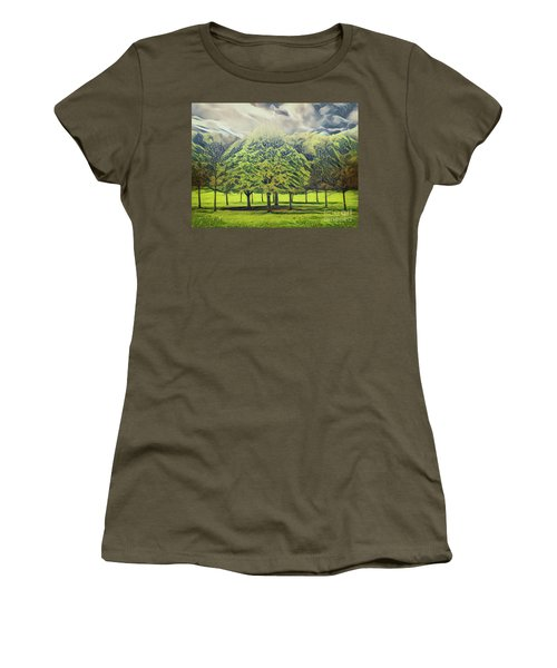 Women's T-Shirt featuring the photograph Just Trees by Leigh Kemp