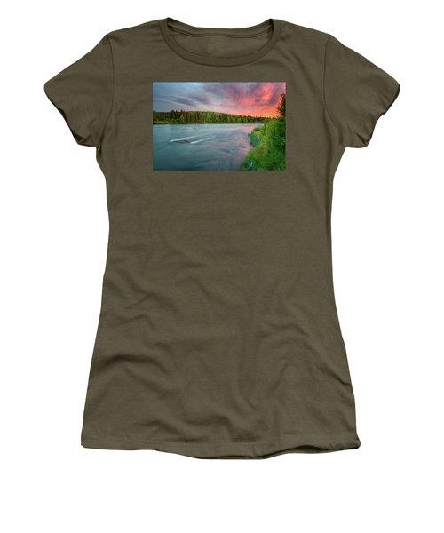 Kenai River Alaska Sunset Women's T-Shirt
