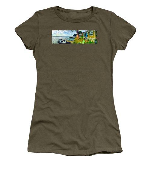 Keuka Lake Mornings Panorama Women's T-Shirt