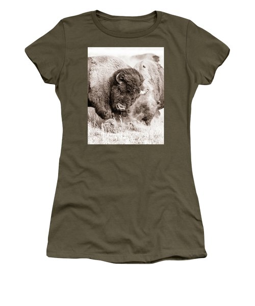 Kicking Up The Dirt Women's T-Shirt