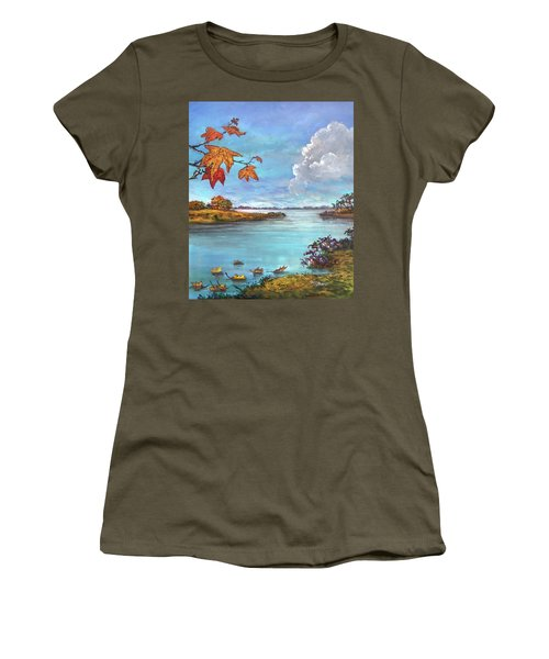 Kites, Clouds And Sailboats Women's T-Shirt