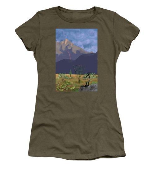 Kokopelli And Mount Wrightson Women's T-Shirt