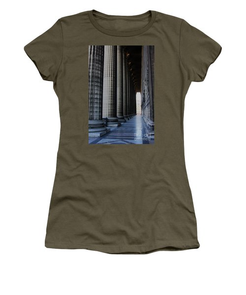 Women's T-Shirt featuring the photograph La Colonnade De La Madeleine by Rick Locke