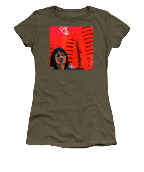 Lady With Red Chairs Women's T-Shirt