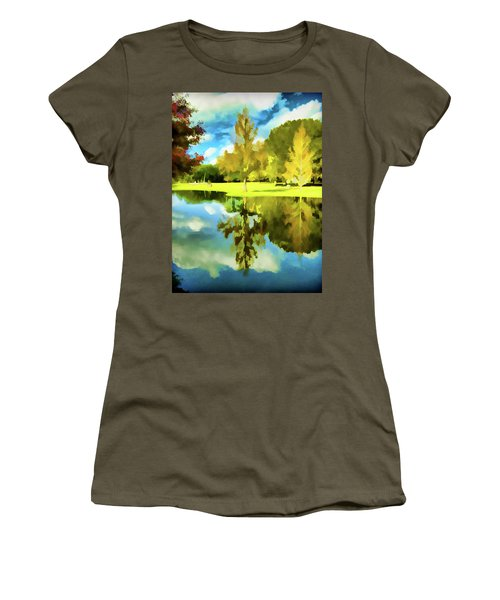 Lake Reflection - Faux Painted Women's T-Shirt