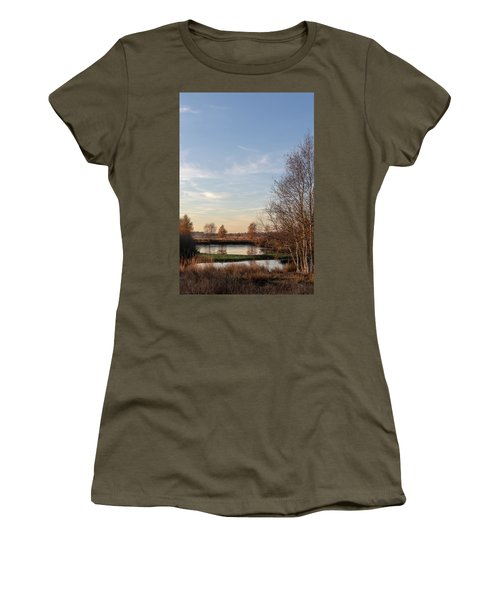 Women's T-Shirt featuring the photograph Landscape Scenery by Anjo Ten Kate