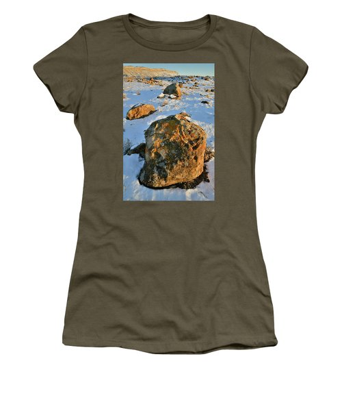 Last Light Of The Day In The Book Cliffs Women's T-Shirt