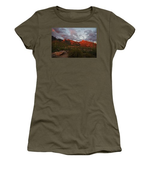 Last Light On Catalina Mountains Women's T-Shirt