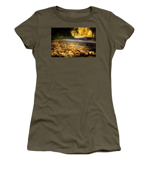 Leaves Along The Road Women's T-Shirt (Athletic Fit)