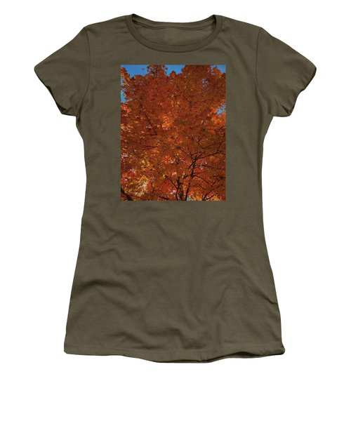 Leaves Of Fire Women's T-Shirt