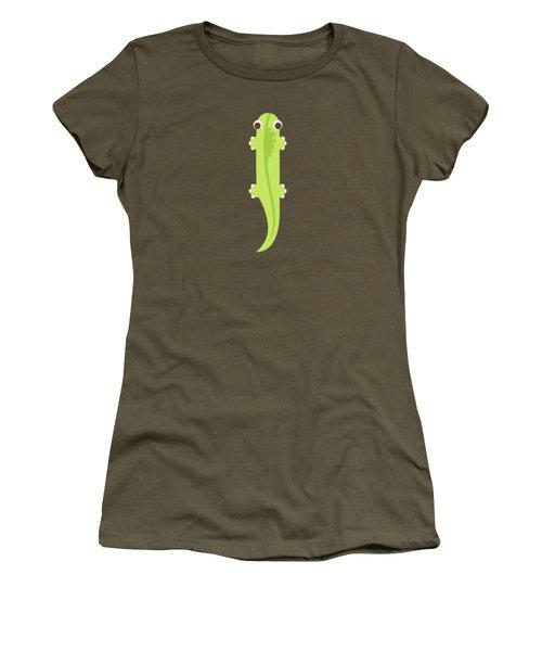 Letter I - Animal Alphabet - Iguana Monogram Women's T-Shirt