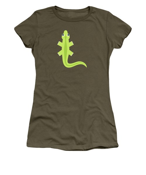 Letter L - Animal Alphabet - Lizard Monogram Women's T-Shirt