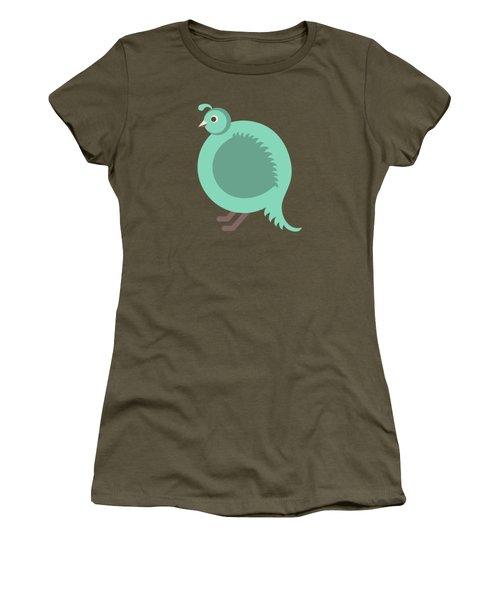 Letter Q - Animal Alphabet - Quail Monogram Women's T-Shirt