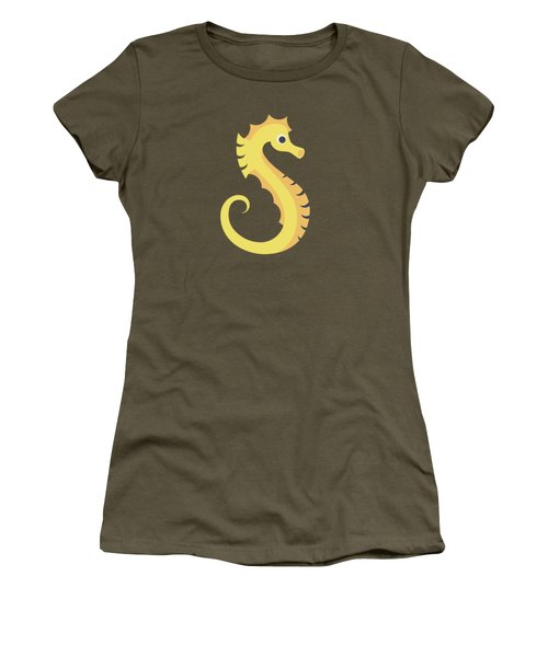 Letter S - Animal Alphabet - Seahorse Monogram Women's T-Shirt