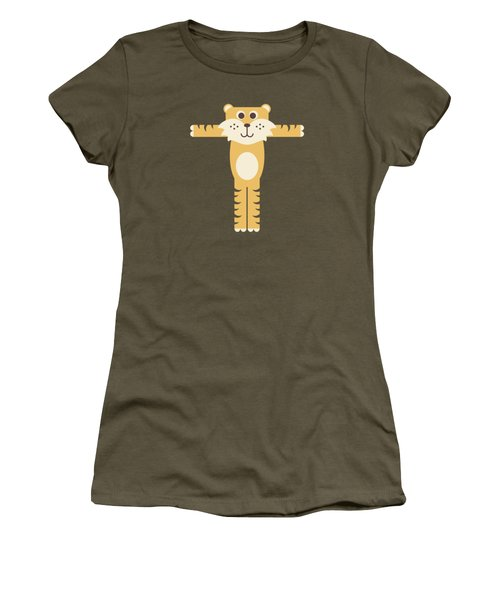Letter T - Animal Alphabet - Tiger Monogram Women's T-Shirt