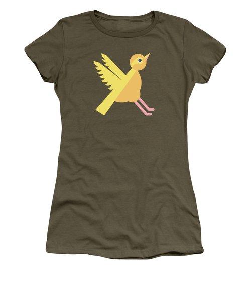 Letter X - Animal Alphabet - Xenops Monogram Women's T-Shirt
