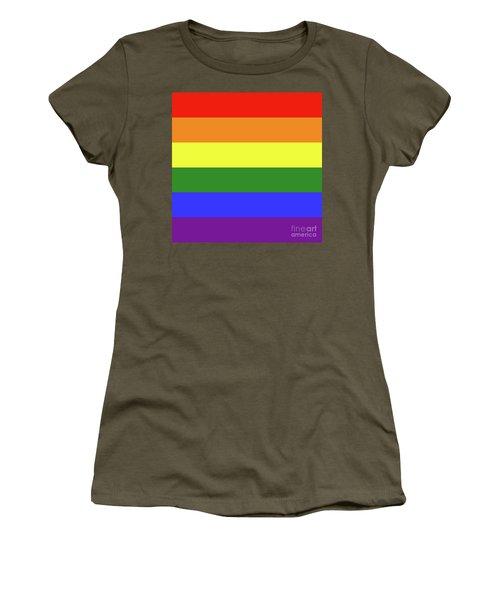 Lgbt 6 Color Rainbow Flag Women's T-Shirt