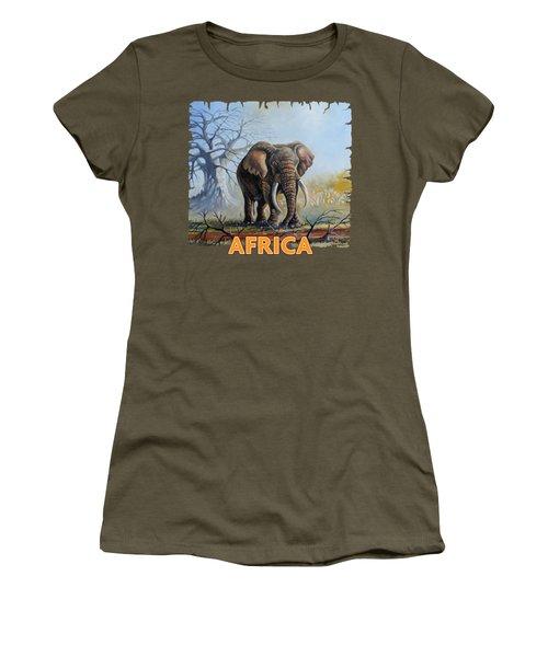 Lone Elephant Browsing Women's T-Shirt
