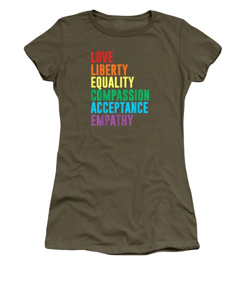 Love Liberty Equality Compassion Acceptance Lgbt Tshirt Women's T-Shirt