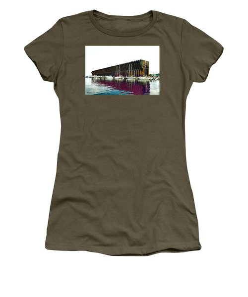 Lower Harbor Ore Dock At Marquette Michigan. Women's T-Shirt