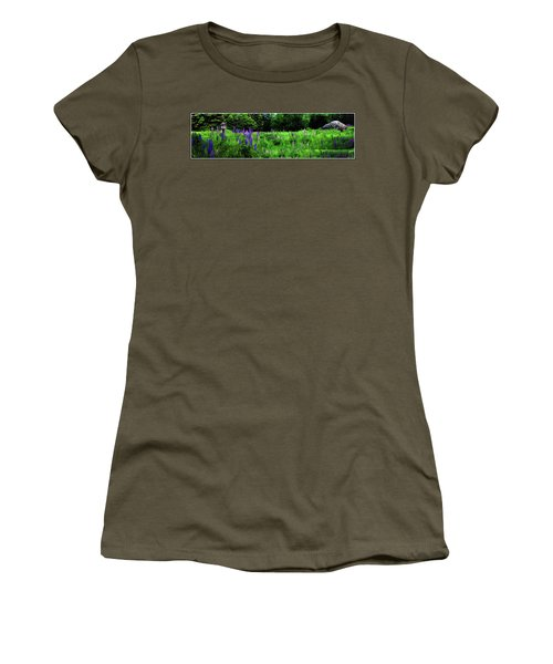 Women's T-Shirt featuring the photograph Lupine Panorama by Wayne King