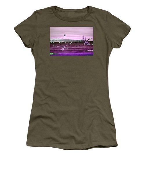 Mackinac Bridge Seagulls Women's T-Shirt