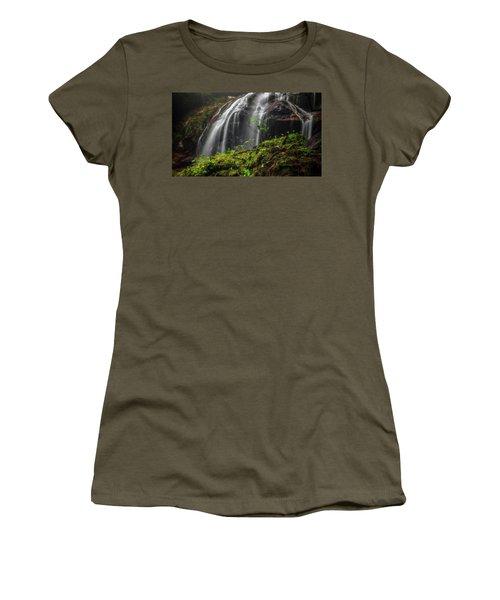 Magical Mystical Mossy Waterfall Women's T-Shirt