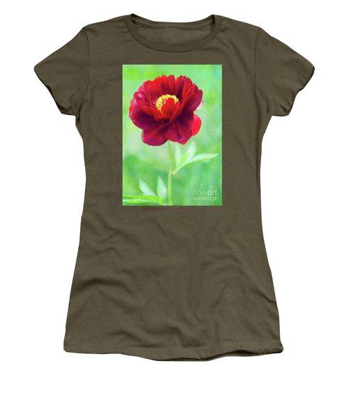 Magnificent Crimson Peony Women's T-Shirt
