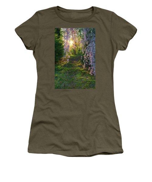 Magnolia Tree Sunset Women's T-Shirt