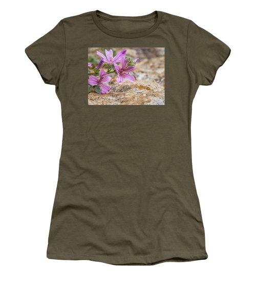 Malva Sylvestris - Spontaneous Flower Of The Tuscan Mountains Women's T-Shirt