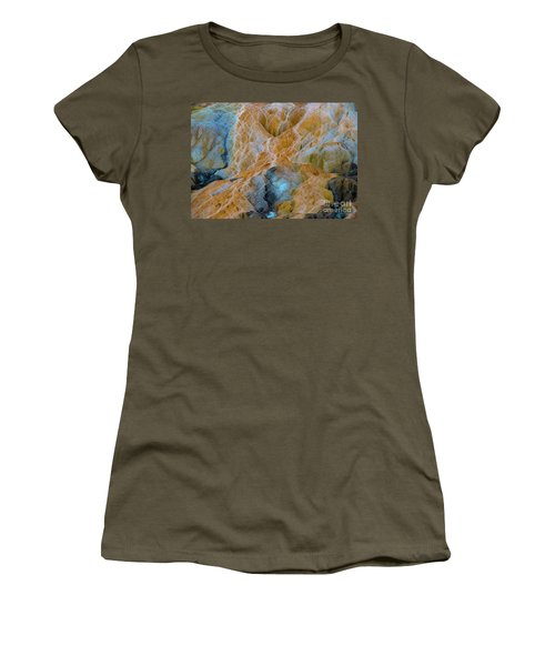 Women's T-Shirt featuring the photograph Mammoth Hot Springs by Mae Wertz