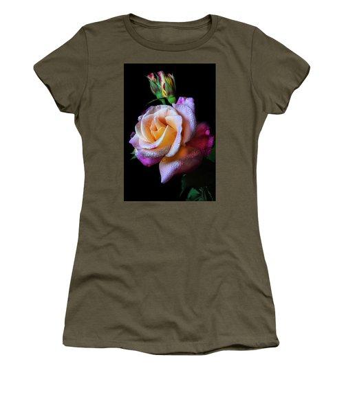 Mardi Gras Rose Portrait Women's T-Shirt