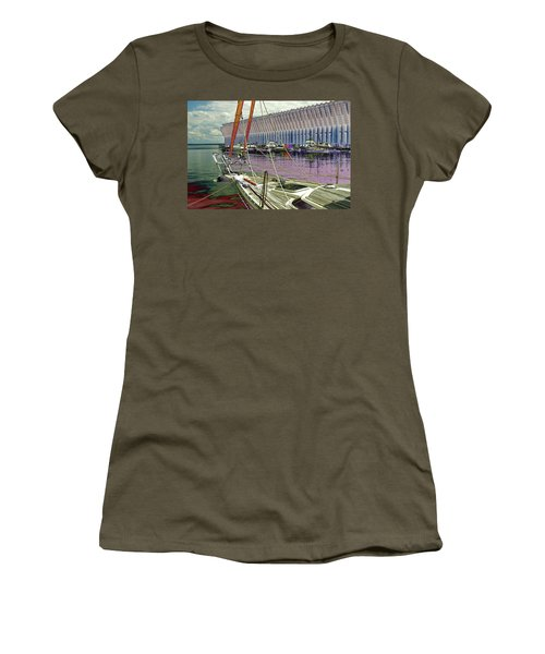 Marquette Ore Dock Lower Harbor. Women's T-Shirt