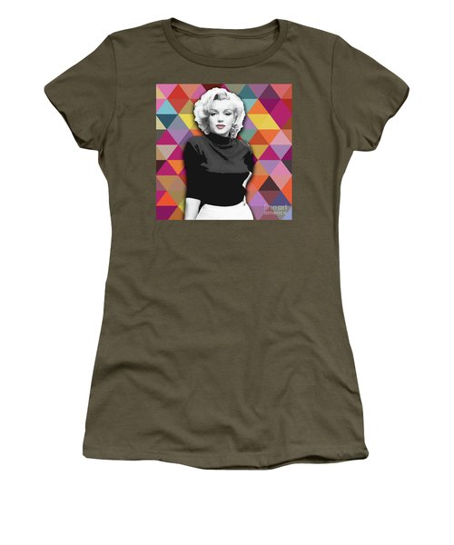 Women's T-Shirt featuring the painting Marylin Monroe Diamonds by Carla Bank