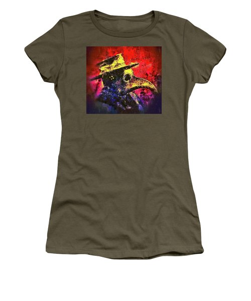 Women's T-Shirt featuring the mixed media Plague Mask  by Al Matra