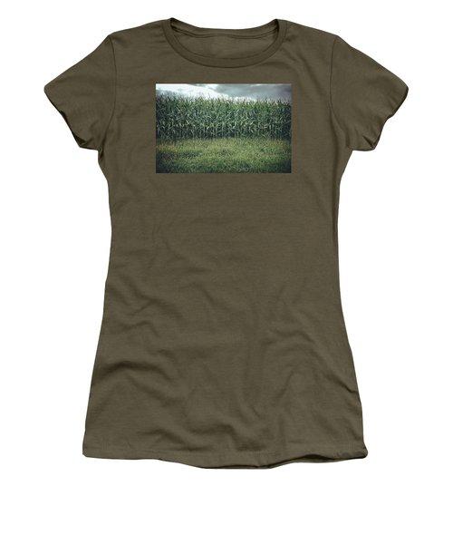 Women's T-Shirt featuring the photograph Maze Field by Steve Stanger