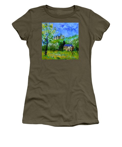 Medieval Castle In Spring Women's T-Shirt