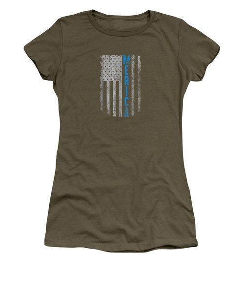 'merica American Flag Vintage Men Women Gift 2018 T-shirt Women's T-Shirt