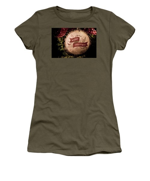 Women's T-Shirt featuring the photograph Merry Christmas by Allin Sorenson