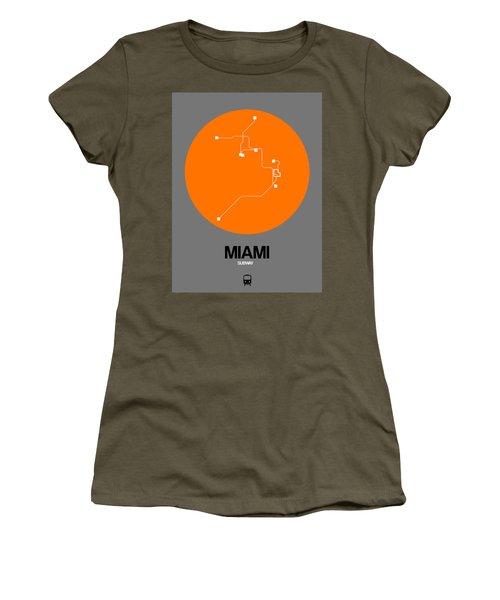 Miami Orange Subway Map Women's T-Shirt