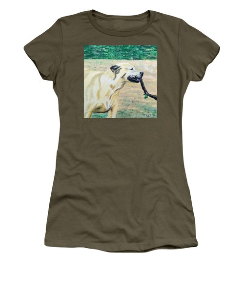Women's T-Shirt featuring the painting Mike by Kevin Daly