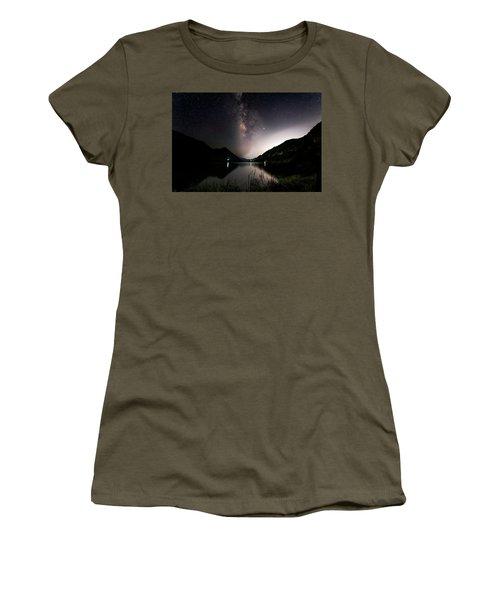 Milky Way Over The Ou River Near Longquan In China Women's T-Shirt