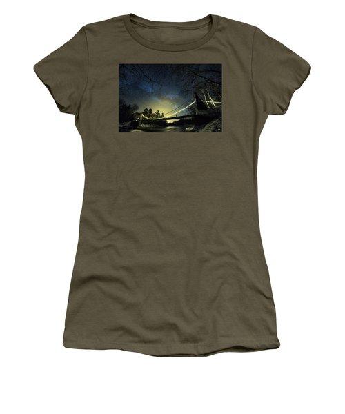 Milky Way Over The Wire Bridge Women's T-Shirt