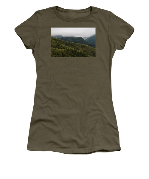 Women's T-Shirt featuring the photograph Misty Mountains I by William Dickman
