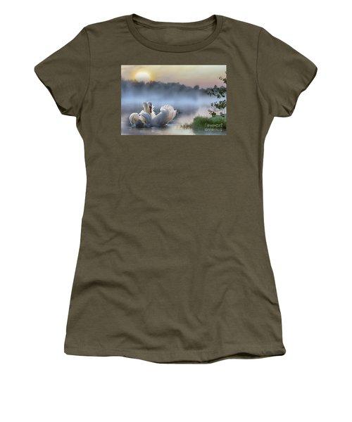 Misty Swan Lake Women's T-Shirt