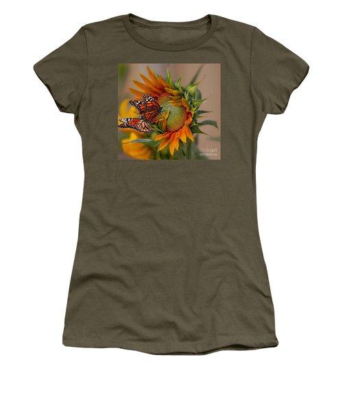 Monarchs And Sunflower Women's T-Shirt