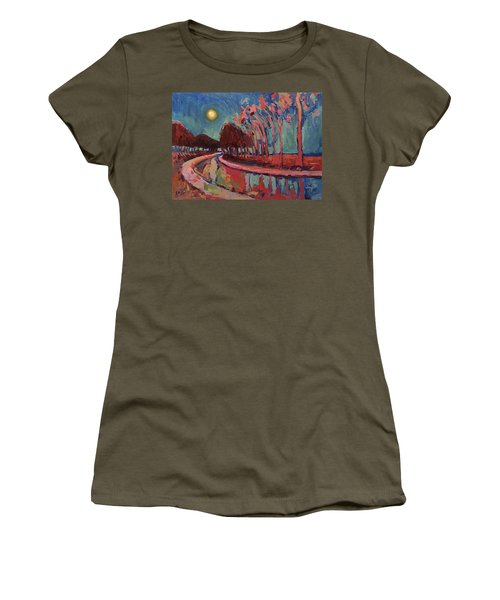 Moon Night At The Canal Women's T-Shirt